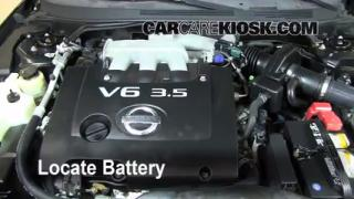 2006 Nissan Altima SE 3.5L V6 Battery Replace