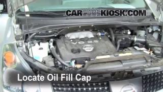 How to Add Oil Nissan Quest (2004-2009)