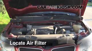 2006 Pontiac Torrent 3.4L V6 Air Filter (Engine) Check