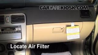 2006 Subaru Forester X 2.5L 4 Cyl. Air Filter (Cabin) Check