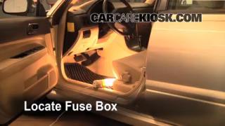 Interior Fuse Box Location: 2006-2008 Subaru Forester