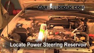 2006 Subaru Forester X 2.5L 4 Cyl. Power Steering Fluid Check Fluid Level