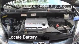 Battery Replacement: 2004-2010 Toyota Sienna