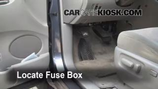 Interior Fuse Box Location: 2004-2010 Toyota Sienna