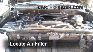 2000-2006 Toyota Tundra Engine Air Filter Check