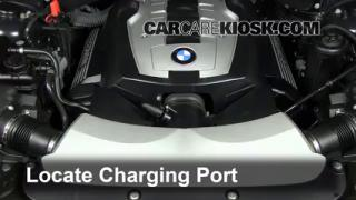 2007 BMW 750Li 4.8L V8 Air Conditioner Recharge Freon
