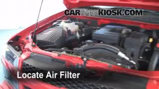 2004-2012 Chevrolet Colorado Engine Air Filter Check