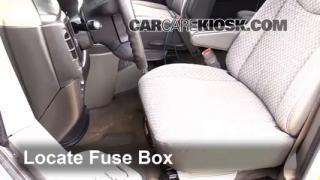 interior fuse box location 1996 2014 chevrolet express 3500 1996 2014 chevrolet express 3500 interior fuse check