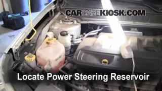 2007 Chrysler Sebring Limited 2.4L 4 Cyl. Power Steering Fluid Check Fluid Level