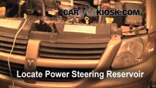 Follow These Steps to Add Power Steering Fluid to a Dodge Grand Caravan (2005-2007)