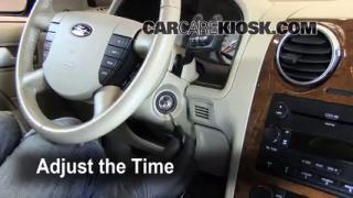 How to Set the Clock on a Ford Freestyle (2005-2007)