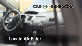 2006-2011 Honda Civic Cabin Air Filter Check