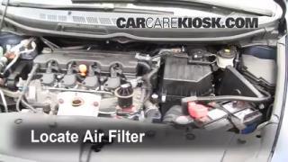 2007 Honda Civic LX 1.8L 4 Cyl. Sedan (4 Door) Air Filter (Engine) Replace
