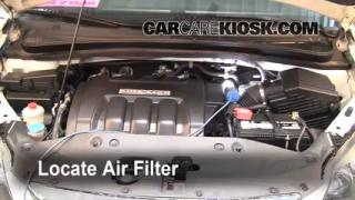 2005-2010 Honda Odyssey Engine Air Filter Check