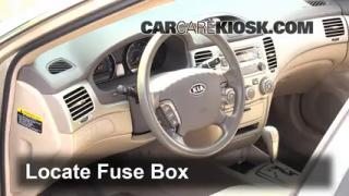Interior Fuse Box Location: 2006-2010 Kia Optima