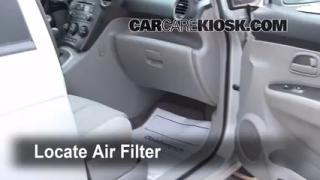 2007-2010 Kia Rondo Cabin Air Filter Check