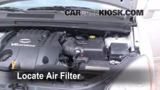 2007-2010 Kia Rondo Engine Air Filter Check