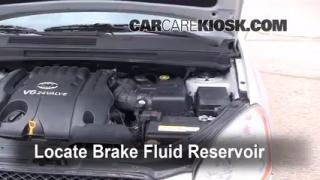 Add Brake Fluid: 2007-2010 Kia Rondo