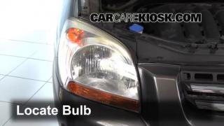 2007 Kia Sportage LX 2.7L V6 Lights Headlight (replace bulb)