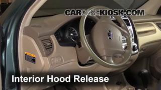 Open Hood How To 2005-2010 Kia Sportage