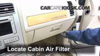 Cabin Filter Replacement: Lincoln MKX 2007-2014