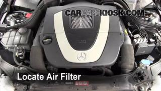 2007 Mercedes-Benz C230 Sport 2.5L V6 FlexFuel Air Filter (Engine) Check