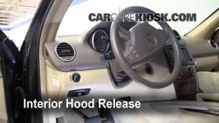 Open Hood How To 2006-2011 Mercedes-Benz ML350
