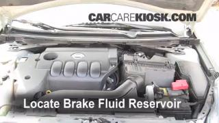 2007 Nissan Altima S 2.5L 4 Cyl. Brake Fluid Check Fluid Level
