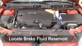 2007 Pontiac G6 3.5L V6 Brake Fluid Add Fluid