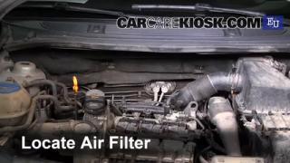 2007 Skoda Roomster HTP 1.2L 3 Cyl. Filtro de aire (motor) Control