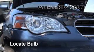 2007 Subaru Legacy 2.5i Special Edition 2.5L 4 Cyl. Sedan Lights Highbeam (replace bulb)