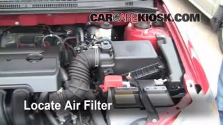 2003-2008 Toyota Corolla Engine Air Filter Check