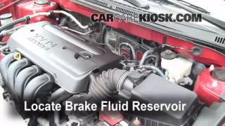 Add Brake Fluid: 2003-2008 Toyota Corolla