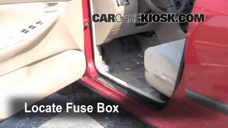 Interior Fuse Box Location: 2003-2008 Toyota Corolla