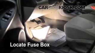 Interior Fuse Box Location: 2006-2012 Toyota RAV4