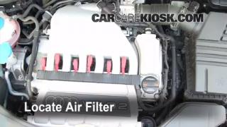2006-2013 Audi A3 Engine Air Filter Check