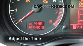 How to Set the Clock on a Audi A3 (2006-2013)