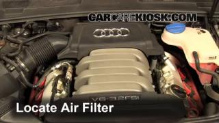 2005-2011 Audi A6 Engine Air Filter Check