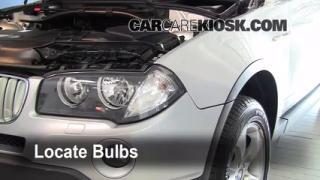 2008 BMW X3 3.0si 3.0L 6 Cyl. Lights Turn Signal - Front (replace bulb)