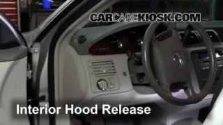 Open Hood How To 2006-2011 Buick Lucerne