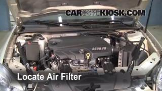 2008 Chevrolet Impala LT 3.5L V6 FlexFuel Air Filter (Engine) Replace