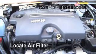 2008 Chevrolet Uplander LS 3.9L V6 Air Filter (Engine) Check