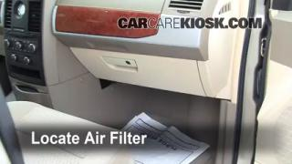 2008-2016 Chrysler Town and Country Cabin Air Filter Check
