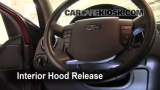 Open Hood How To 2008-2009 Ford Taurus X