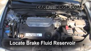2008-2012 Honda Accord Brake Fluid Level Check