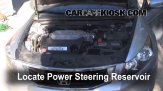 2008 Honda Accord EX-L 3.5L V6 Sedan (4 Door) Power Steering Fluid Fix Leaks