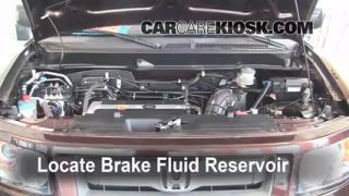 2003-2011 Honda Element Brake Fluid Level Check