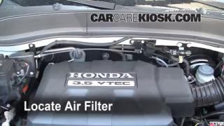 2006-2014 Honda Ridgeline Engine Air Filter Check