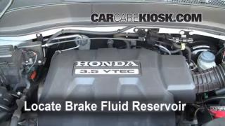 Add Brake Fluid: 2006-2014 Honda Ridgeline
