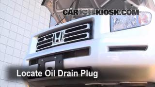 2008 Honda Ridgeline RTL 3.5L V6 Oil Change Oil and Oil Filter